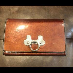 Zac Posen Patent Trifold Wallet